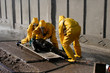 Man in chemical protection suit - 72218004