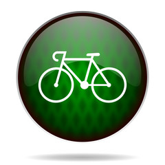 bicycle green internet icon