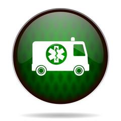 ambulance green internet icon
