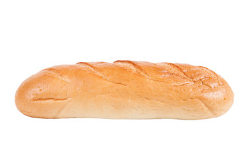 """loaf of bread """"rifled"""" isolated on white background"""