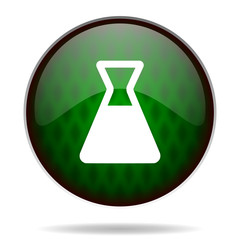 laboratory green internet icon