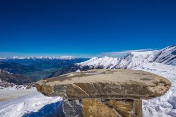 Aussicht vom Gletscher Hohe Tauern