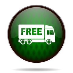 free delivery green internet icon