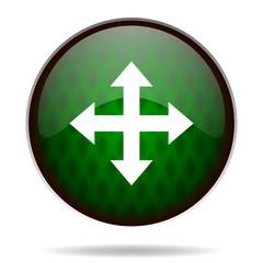 arrow green internet icon