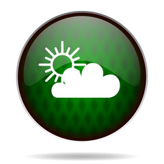 cloud green internet icon