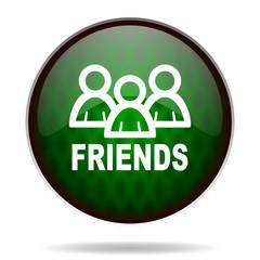 friends green internet icon