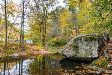 Otter Creek Dam - Downstream in Fall