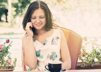 Woman chatting on her mobile phone