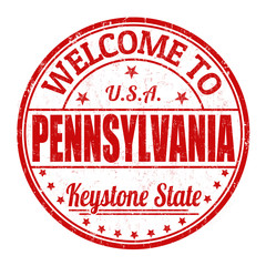 Welcome to Pennsylvania stamp