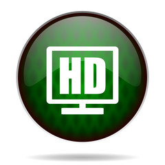 hd display green internet icon