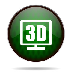 3d display green internet icon