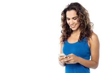 Beautiful woman using a mobile phone