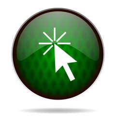 click here green internet icon