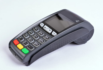 POS Payment GPRS Terminal, isolated on white