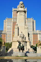 Plaza de Espana in Madrid, Spain