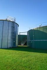 Hochbehälter für Biogasanlage, Hochformataufnahme