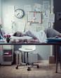 Woman sleeping in office overnight