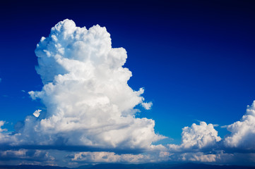 cumulonimbus cloud in a deep blue sky