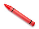 červená pastelka vosk tužka na bílém pozadí