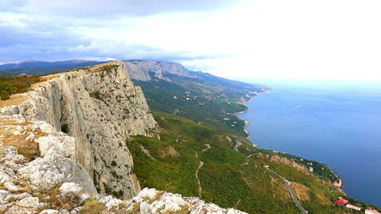 Beautiful autumn landscape with Foross rocks,  Crimea
