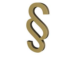 Legislation Thin 3D Gold Concept
