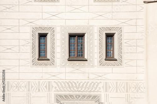 canvas print picture drei Fenster