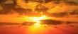 Leinwandbild Motiv red sky in Alghero