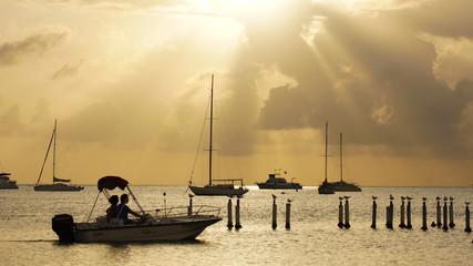 Atardecer en la Playa de Boqueron, Puerto Rico