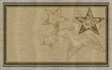Winterlicher Rahmen Leinen und Sterne