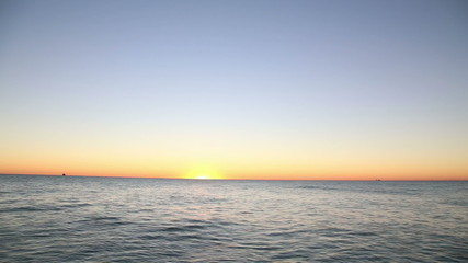 Lake Michigan sunrise, timelapse