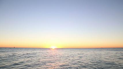 Sunrise over Lake Michigan, real time