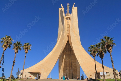 Staande foto Algerije Mémorial du Martyr à Alger, Algérie