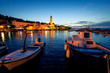 canvas print picture - Sutivan Town in dusk