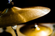 Leinwanddruck Bild - Drums, Cymbal and Instruments