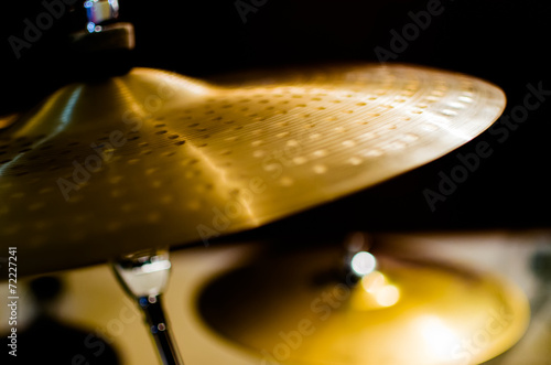 Leinwanddruck Bild Drums, Cymbal and Instruments