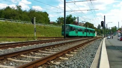 The Train in Frankfurt Germany