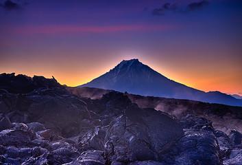 Greeting the sun on lava flow