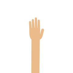 raise one's hand