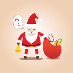 Cute Santa Clauses.Cartoon styles for christmas