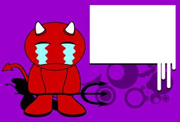 devil halloween cartoon background card6
