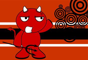 devil halloween cartoon background card5