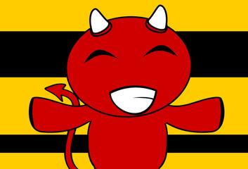 devil halloween cartoon background card