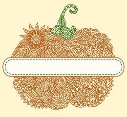 Doodle pumpkin tag