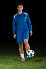 Soccer Player Standing Portrait