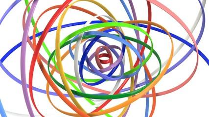 回転するリングのループCG