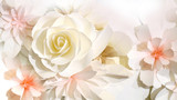 Fototapety roses flower wedding background