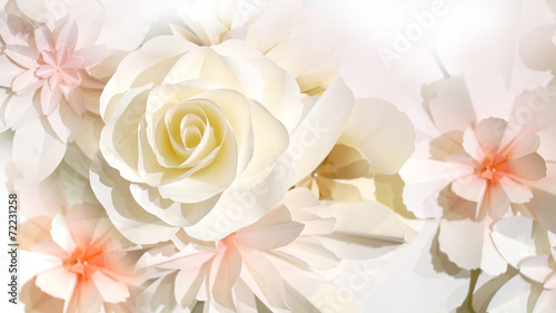 Aluminium Rozen roses flower wedding background