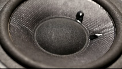 A Close up of an Audio Woofer