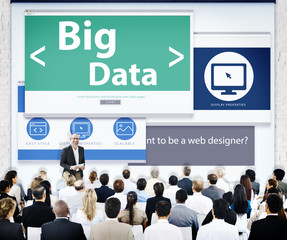 Business People Presentation Seminar Big Data Concept