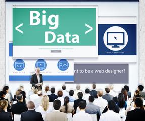 Business People Presentation Seminar Big Data Concept